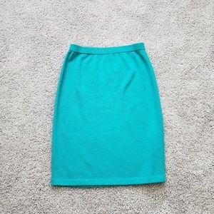 St. John by Marie Gray Green Pencil Skirt